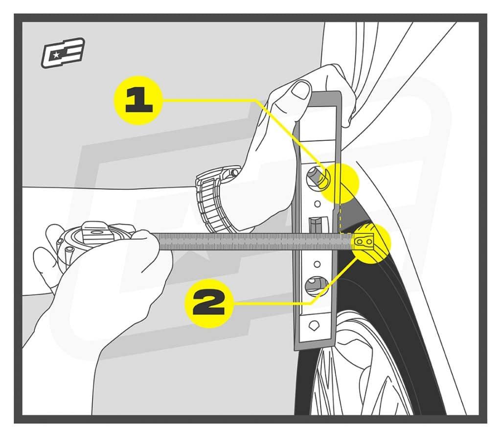 Cómo medir para separadores de rueda