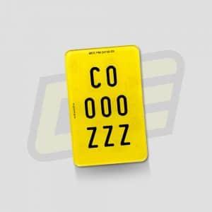 matrículas de metacrilato acrílicas para ciclomotor 10x16,8 cm